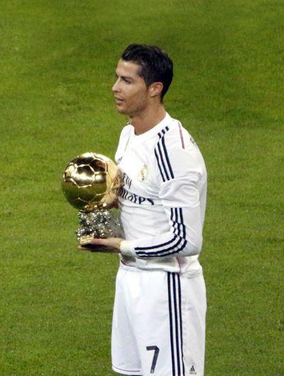 c ronaldo ballon d'or gouden bal
